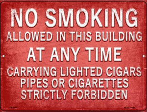 No Smoking Wholesale Novelty Mini Metal Parking Sign PM-2719