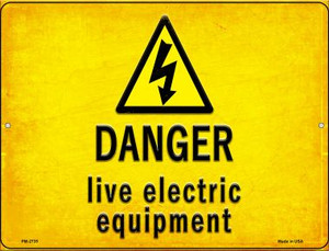 Danger Live Electric Equipment Wholesale Novelty Mini Metal Parking Sign PM-2735