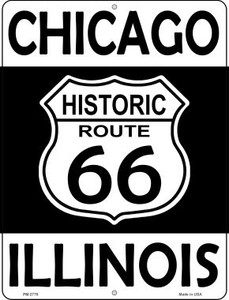 Chicago Illinois Historic Route 66 Wholesale Novelty Mini Metal Parking Sign PM-2776