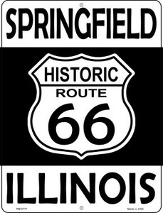 Springfield Illinois Historic Route 66 Wholesale Novelty Mini Metal Parking Sign PM-2777