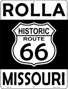 Rolla Missouri Historic Route 66 Wholesale Novelty Mini Metal Parking Sign PM-2779