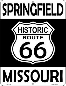 Springfield Missouri Historic Route 66 Wholesale Novelty Mini Metal Parking Sign PM-2780
