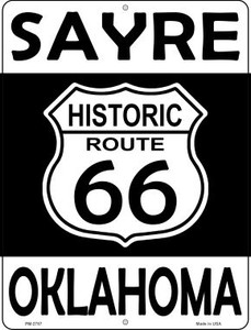 Sayre Oklahoma Historic Route 66 Wholesale Novelty Mini Metal Parking Sign PM-2787