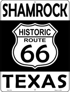 Shamrock Texas Historic Route 66 Wholesale Novelty Mini Metal Parking Sign PM-2788