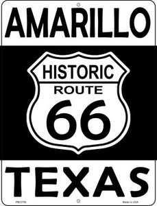 Amarillo Texas Historic Route 66 Wholesale Novelty Mini Metal Parking Sign PM-2790