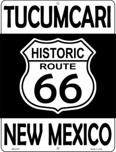Tucumcari New Mexico Historic Route 66 Wholesale Novelty Mini Metal Parking Sign PM-2793