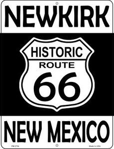 Newkirk New Mexico Historic Route 66 Wholesale Novelty Mini Metal Parking Sign PM-2794