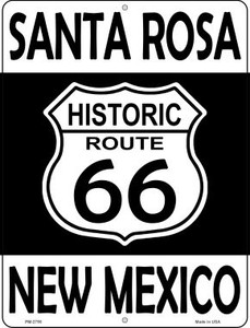 Santa Rosa New Mexico Historic Route 66 Wholesale Novelty Mini Metal Parking Sign PM-2795
