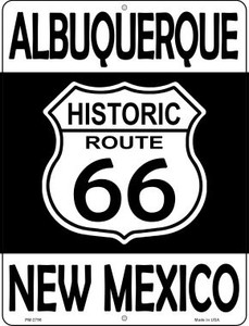 Albuquerque New Mexico Historic Route 66 Wholesale Novelty Mini Metal Parking Sign PM-2796