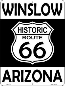 Winslow Arizona Historic Route 66 Wholesale Novelty Mini Metal Parking Sign PM-2797