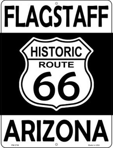 Flagstaff Arizona Historic Route 66 Wholesale Novelty Mini Metal Parking Sign PM-2798