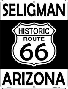 Seligman Arizona Historic Route 66 Wholesale Novelty Mini Metal Parking Sign PM-2800