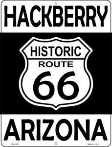 Hackberry Arizona Historic Route 66 Wholesale Novelty Mini Metal Parking Sign PM-2801