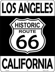 Los Angeles California Historic Route 66 Wholesale Novelty Mini Metal Parking Sign PM-2807