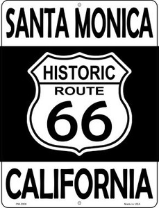 Santa Monica California Historic Route 66 Wholesale Novelty Mini Metal Parking Sign PM-2808
