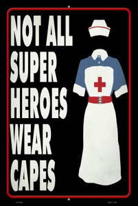 Nurse Superhero Wholesale Novelty Metal Large Parking Sign LGP-2846
