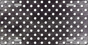Black White Small Dots Print Oil Rubbed Wholesale Metal Novelty License Plate