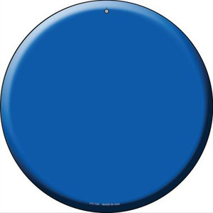 Blue Wholesale Novelty Small Metal Circular Sign UC-154