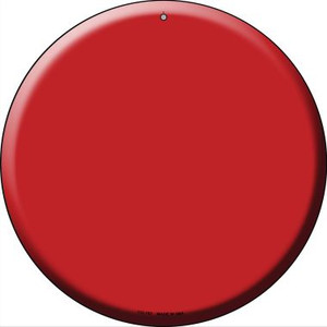 Red Wholesale Novelty Small Metal Circular Sign UC-157