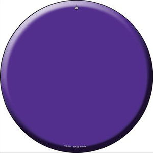 Purple Wholesale Novelty Small Metal Circular Sign UC-159