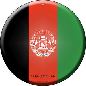 Afghanistan Country Wholesale Novelty Small Metal Circular Sign UC-180