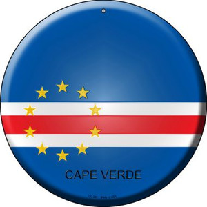 Cape Verde Country Wholesale Novelty Small Metal Circular Sign UC-225