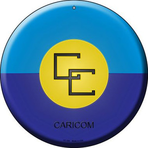 Caricorn Country Wholesale Novelty Small Metal Circular Sign UC-226