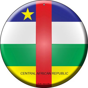 Central African Republic Country Wholesale Novelty Small Metal Circular Sign UC-228