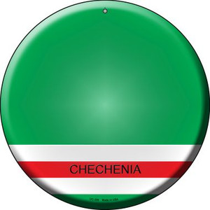 Chechenia Country Wholesale Novelty Small Metal Circular Sign UC-230