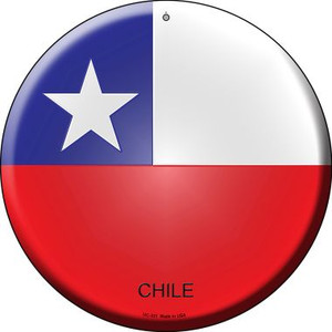 Chile Country Wholesale Novelty Small Metal Circular Sign UC-231