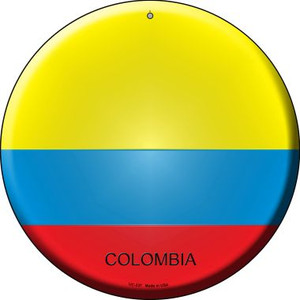 Colombia Country Wholesale Novelty Small Metal Circular Sign UC-237