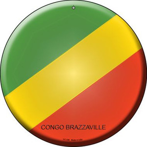 Congo Brazzaville Country Wholesale Novelty Small Metal Circular Sign UC-239