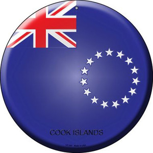 Cook Islands Country Wholesale Novelty Small Metal Circular Sign UC-241