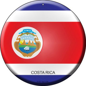 Costa Rica Country Wholesale Novelty Small Metal Circular Sign UC-242