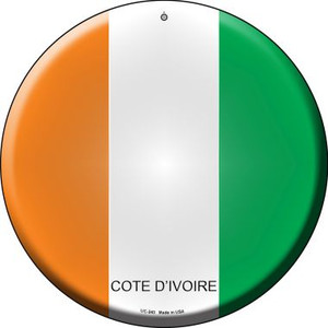 Cote D'ivoire Country Wholesale Novelty Small Metal Circular Sign UC-243