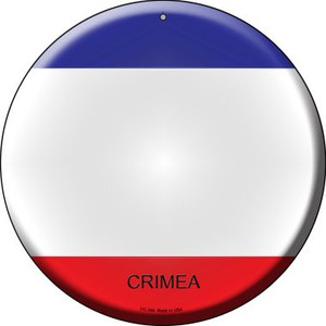 Crimea Country Wholesale Novelty Small Metal Circular Sign UC-244