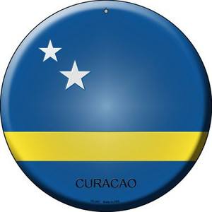 Curacao Country Wholesale Novelty Small Metal Circular Sign UC-247