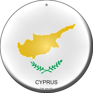 Cyprus Country Wholesale Novelty Small Metal Circular Sign UC-248