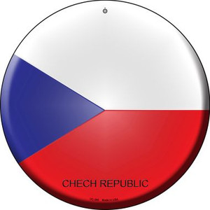 Chech Republic Country Wholesale Novelty Small Metal Circular Sign UC-249