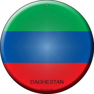 Daghestan Country Wholesale Novelty Small Metal Circular Sign UC-250