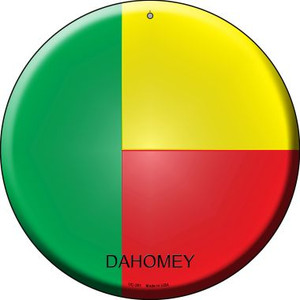 Dahomey Country Wholesale Novelty Small Metal Circular Sign UC-251