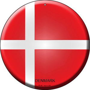 Denmark Country Wholesale Novelty Small Metal Circular Sign UC-252