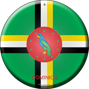 Dominica Country Wholesale Novelty Small Metal Circular Sign UC-254