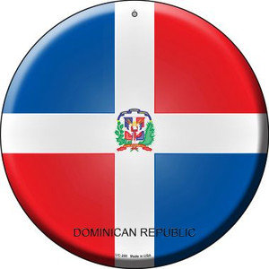 Dominican Republic Country Wholesale Novelty Small Metal Circular Sign UC-255