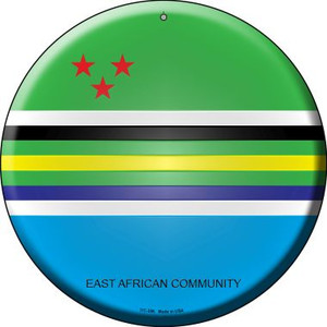 East African Community Country Wholesale Novelty Small Metal Circular Sign UC-256