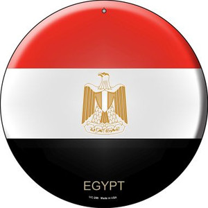 Egypt Country Wholesale Novelty Small Metal Circular Sign UC-258