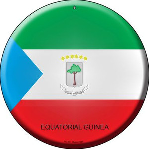 Equatorial Guinea Country Wholesale Novelty Small Metal Circular Sign UC-261