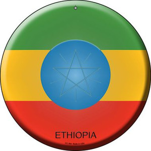 Ethiopia Country Wholesale Novelty Small Metal Circular Sign UC-264