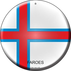 Faroes Country Wholesale Novelty Small Metal Circular Sign UC-266