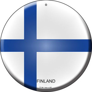 Finland Country Wholesale Novelty Small Metal Circular Sign UC-268